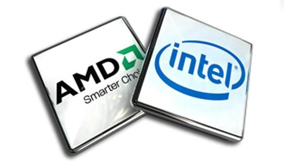 AMD en Intel logo