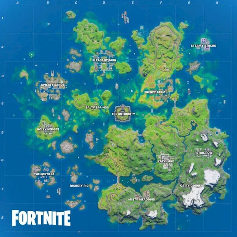 Fortnite Season 3 Splash Down map